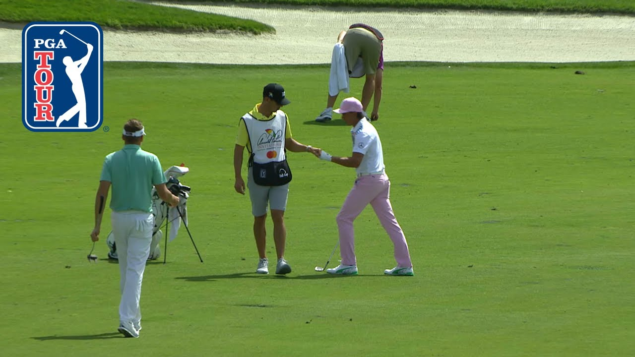 Rickie Fowler holes out for eagle at Arnold Palmer 2019
