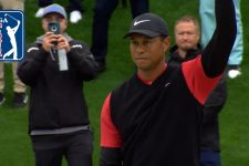 Tiger Woods' bunker hole-out to save par at THE PLAYERS 2019