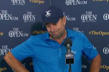 Richard Bland Saturday Mixed Zone Interview 2021 The Open Championship © The Open