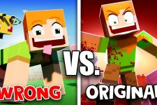 """WRONG vs. ORIGINAL """"Angry Alex"""" 🎵 Minecraft Animation Music Video"""